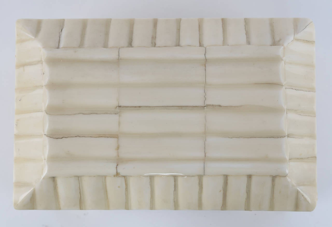 1980s Tessellated-Bone Box by Enrique Garces For Sale 2