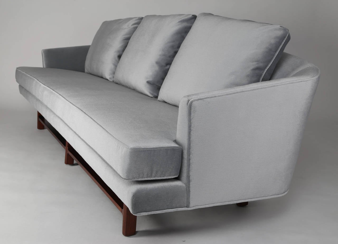 1950s Edward Wormley For Dunbar Curved Back Sofa On