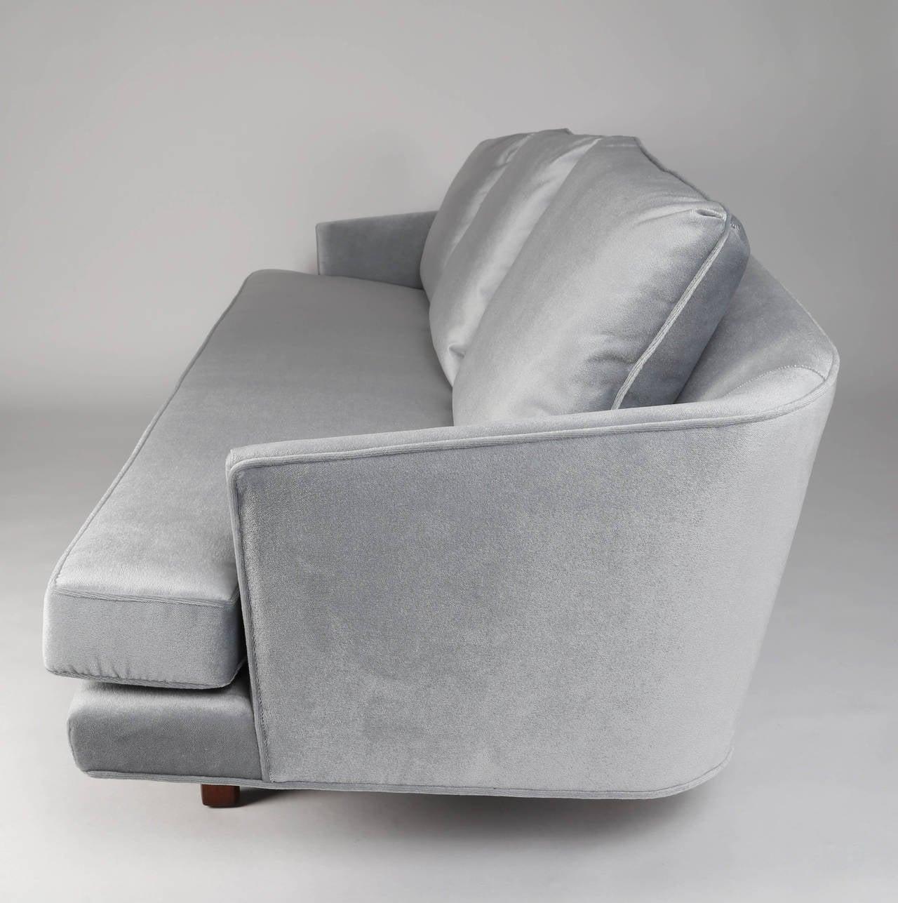 Curved Floating Sofa: 1950s Edward Wormley For Dunbar Curved-Back Sofa On
