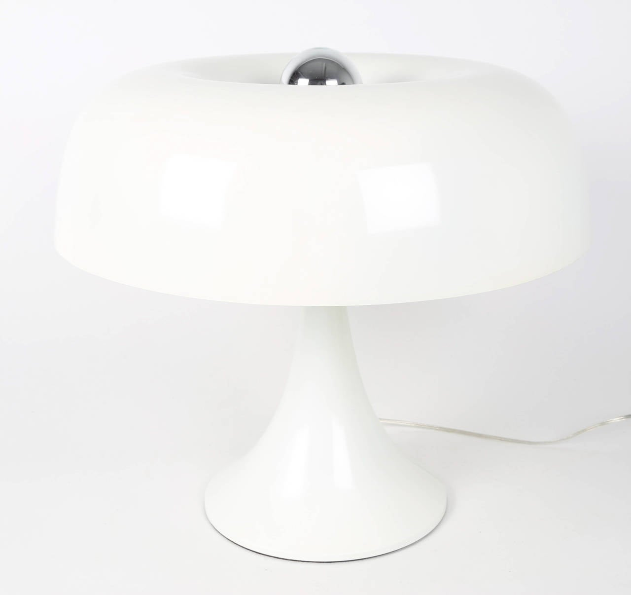 Enameled Groovy Robert Sonneman Mushroom Table Lamp, circa 1970s For Sale