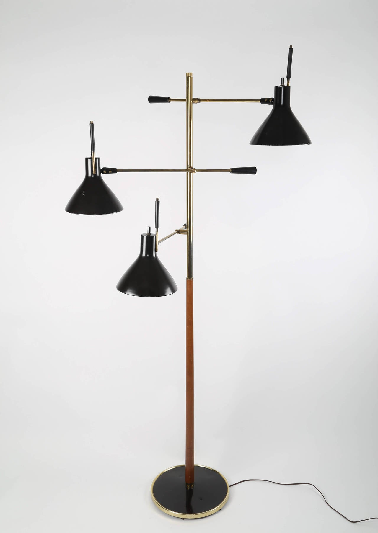 Gerald thurston for lightolier three arm floor lamp at 1stdibs gerald thurston for lightolier three arm floor lamp 3 geotapseo Image collections