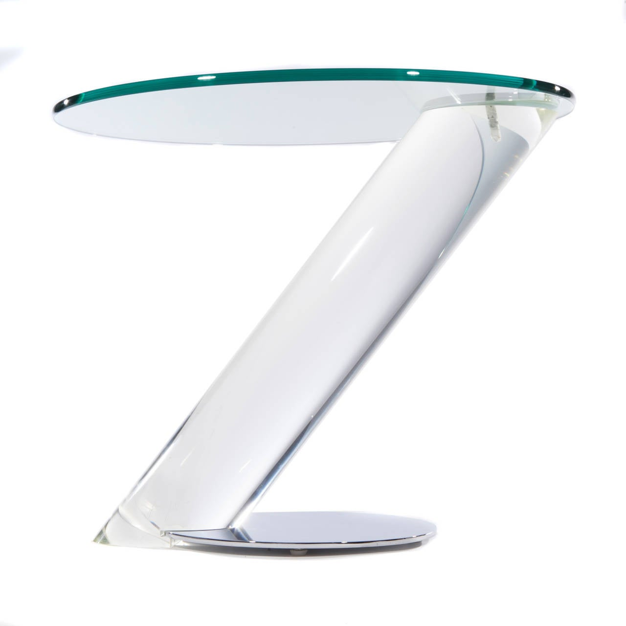 Murano gl floor lamp murano gl floor lamps 173 for at 1stdibs - Pair Of Lucite Chrome And Glass Side Tables By Lion In Frost 5