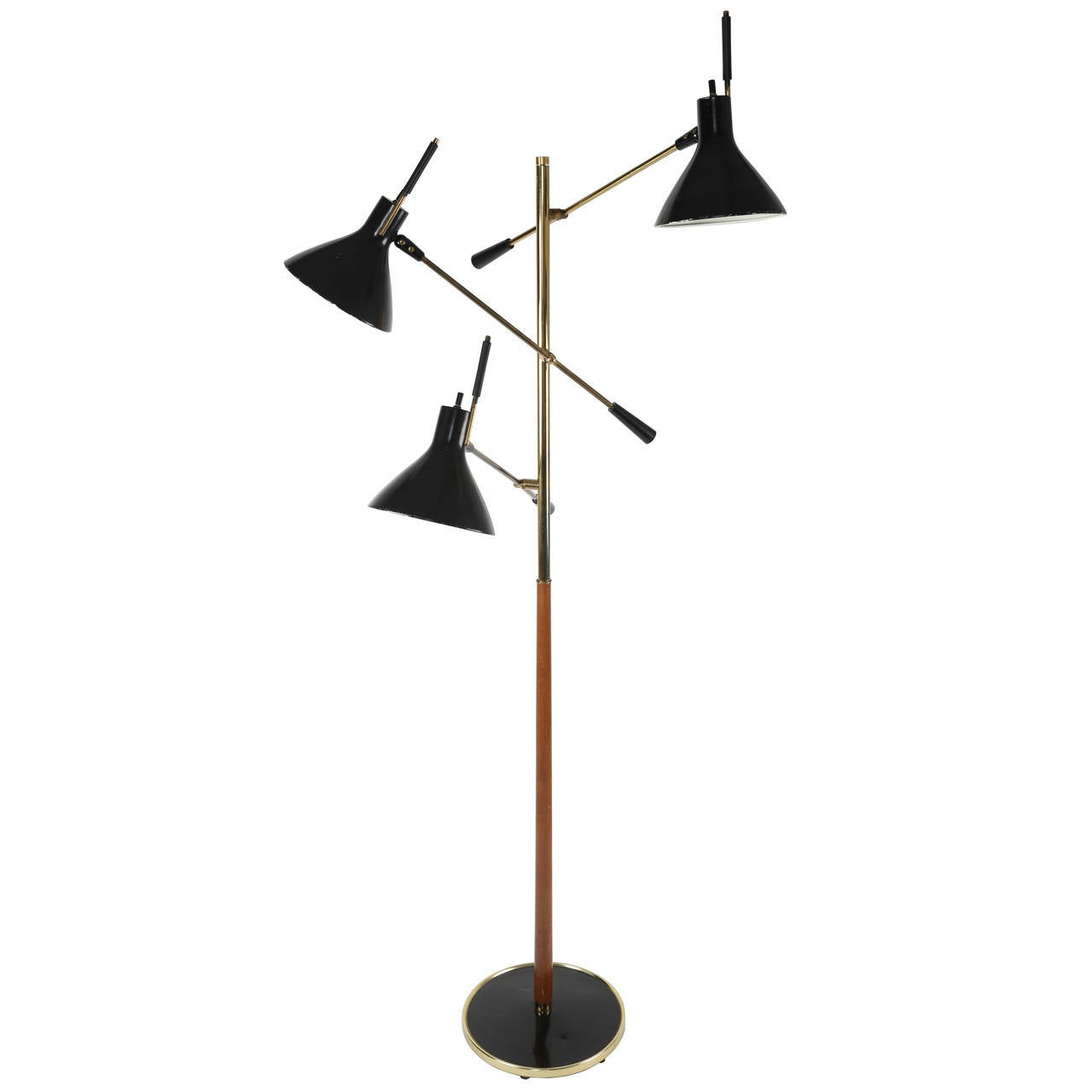 Gerald Thurston for Lightolier Three-Arm Floor Lamp at 1stdibs