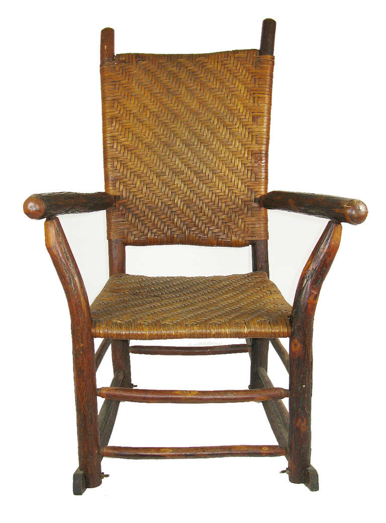 Hickory Chair Foyer Table : Old hickory rocking chair at stdibs