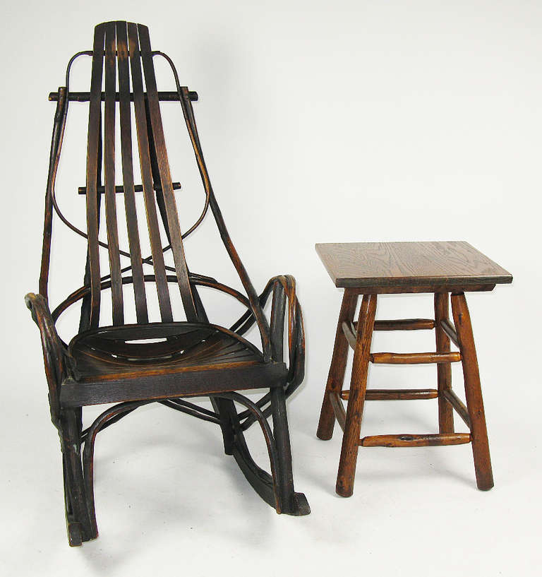 Hickory Twig Rocking Chair at 1stdibs