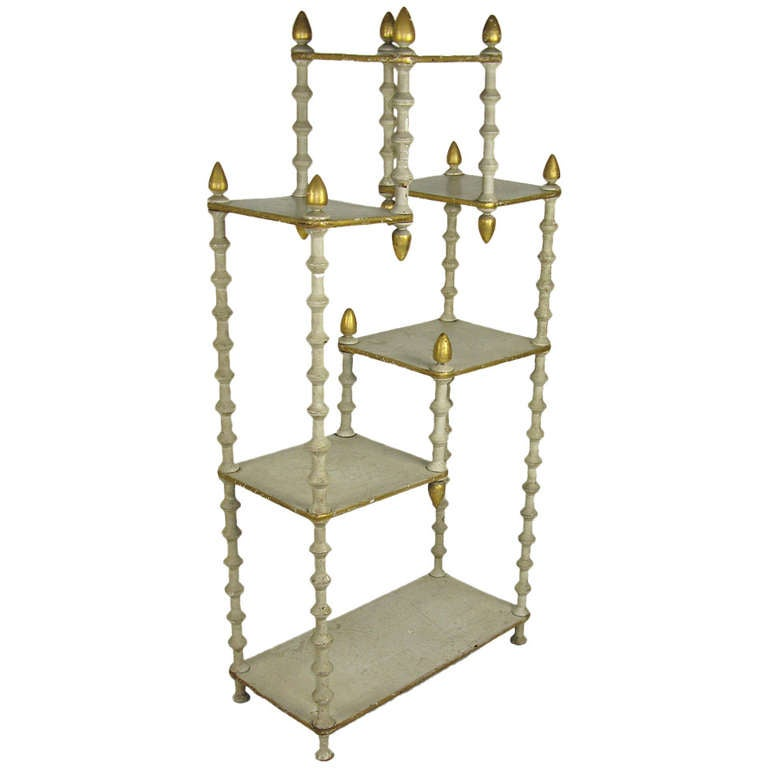 Folk art etagere at 1stdibs - Etagere cases carrees ...