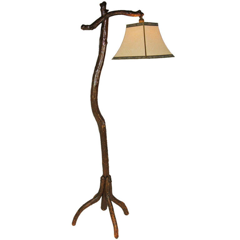 rustic floor lamp at 1stdibs. Black Bedroom Furniture Sets. Home Design Ideas