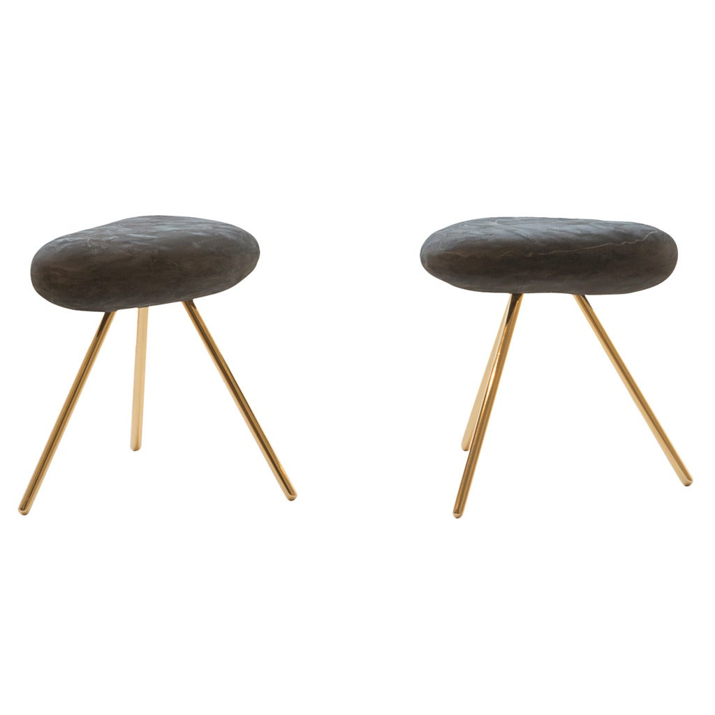 Pair of artefact side tables by martin szekely for sale at for Table 00 martin szekely