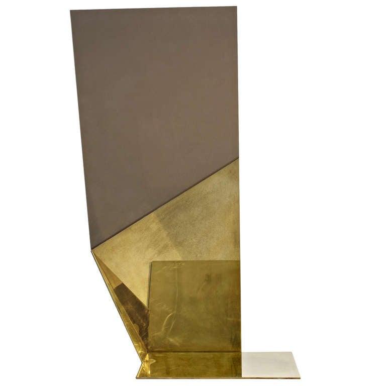 Mirror floor gold by david adjaye at 1stdibs for Gold floor standing mirror