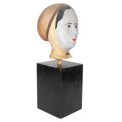 19th Century French Wig Stand by Louis Danjard