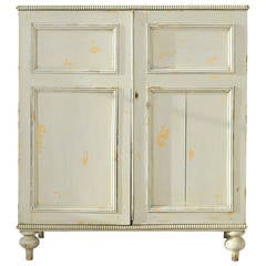 19th Century Decorated Pine Cornish Linen Press, circa 1860