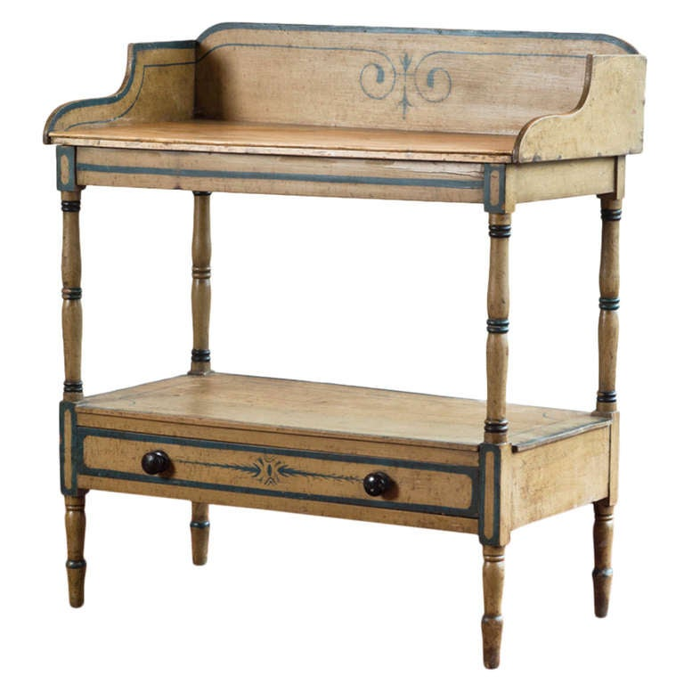 Painted Washstand Circa 1840 With Original Painted Finish