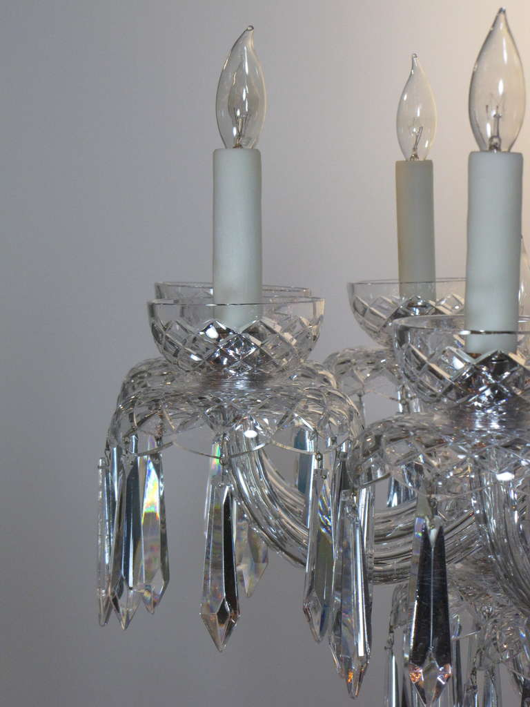 Large multi tiered mid century waterford crystal chandelier for large multi tiered mid century waterford crystal chandelier for sale at 1stdibs aloadofball Images