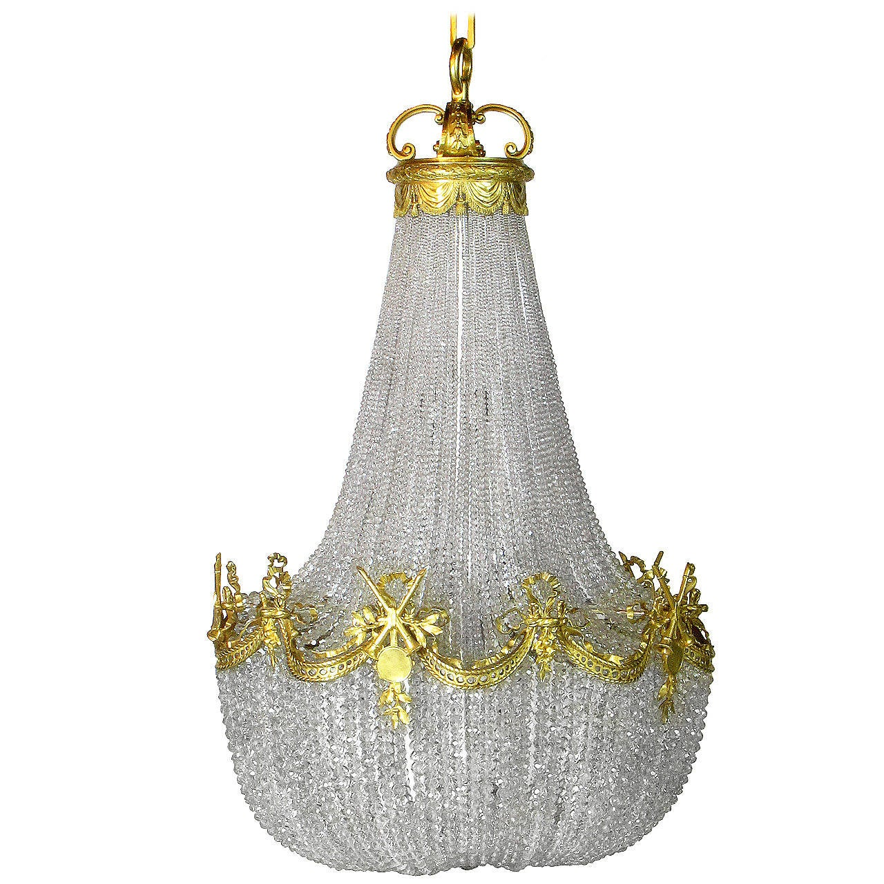 Imposing E F Caldwell Basket Chandelier At 1stdibs