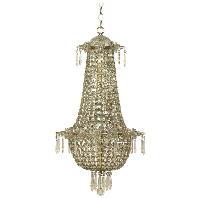 Crystal Foyer Chandelier : S crystal foyer chandelier at stdibs