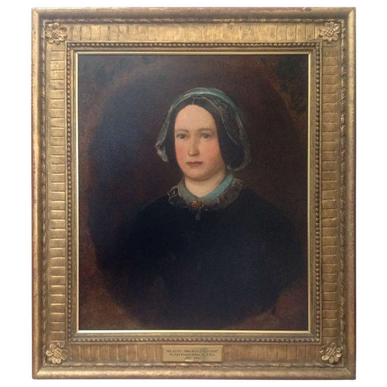 Sir John Everett Millais, Oil on Canvas Portrait of Mrs William Evamy