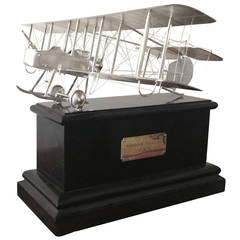 Important Silver Model of a Vickers Gunbus