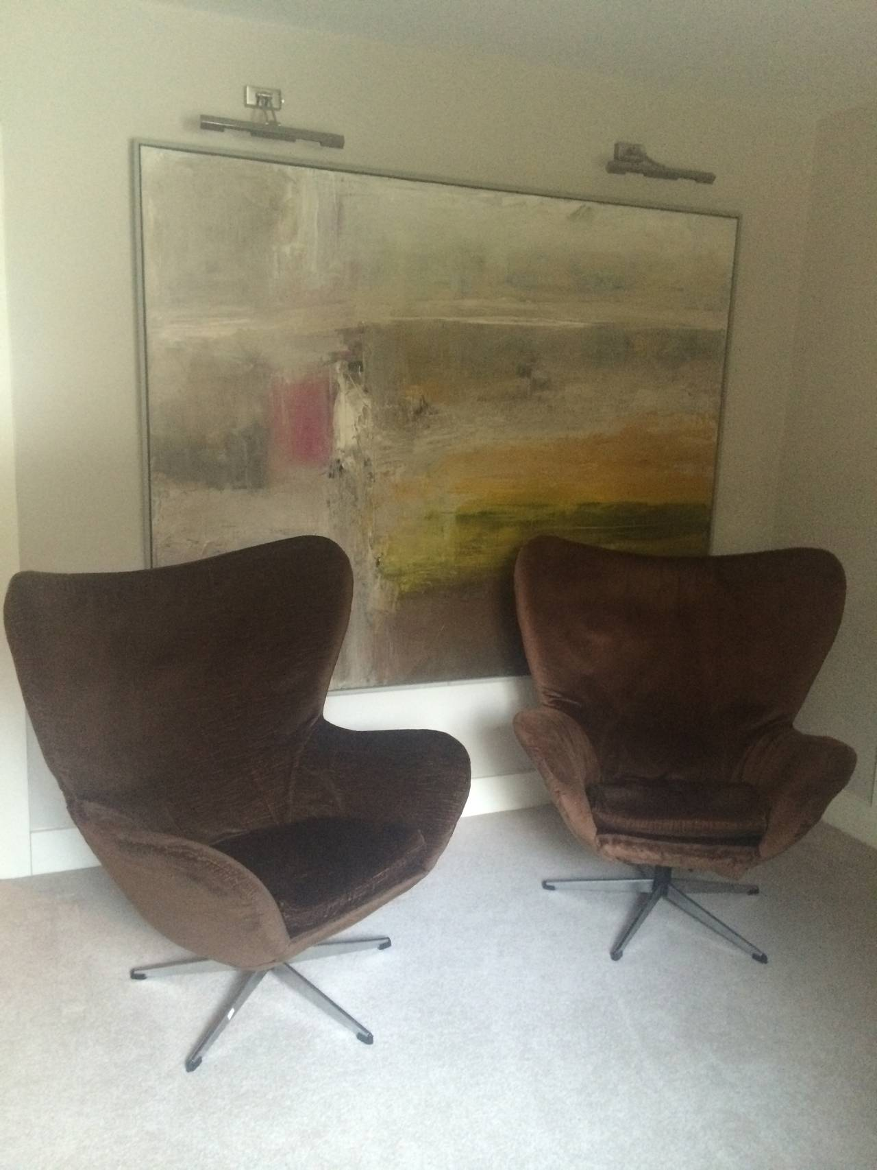 Pair Of 1960s Arne Jacobsen Egg Chairs For Sale At 1stdibs