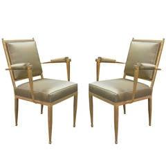 Fine Pair of Art Deco Armchairs