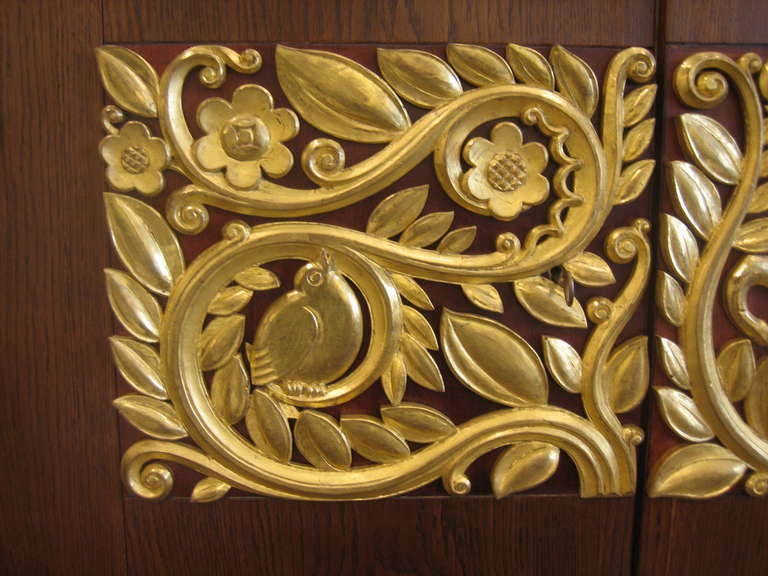 Giltwood Fine Art Deco Sideboard Designed by Christian Krass For Sale