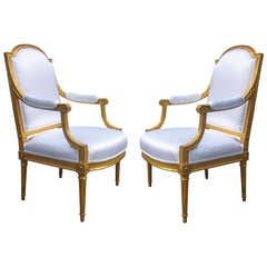 Important pair of Louis XVI Armchairs
