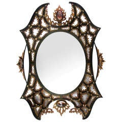 Highly Unusual Mirror Designed by André Dubreuil.