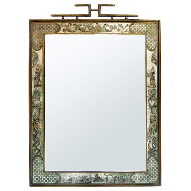 philip and kelvin laverne asian inspired mirror at 1stdibs