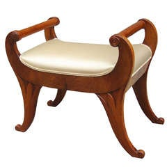 Fine Biedermeier Small Bench