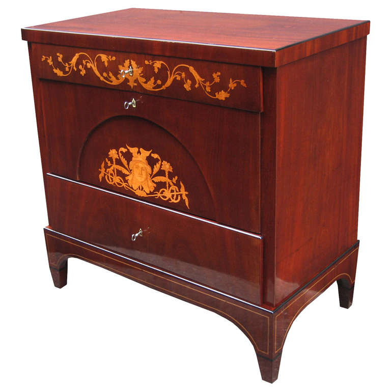 Fine Neoclassical Chest of Three Drawers