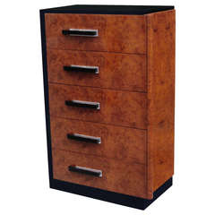 A Donald Deskey Designed Art Deco Tall Chest Of Drawers