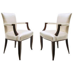 Pair of Art Deco Armchairs Attributed to Jules Leleu