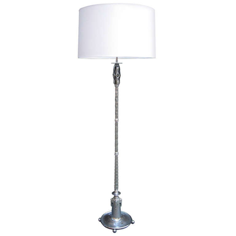 Fine Oscar Bach Designed Art Deco Floor Lamp For Sale At