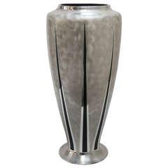 "Decorative ""Ikora"" Tall Mixed Metal Vase by WMF"