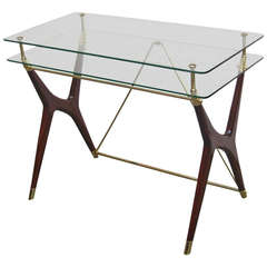 Italian Modernist Two Tier Writing Table