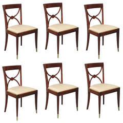 Set of four Art Deco Dining Chairs by De Coene Frères