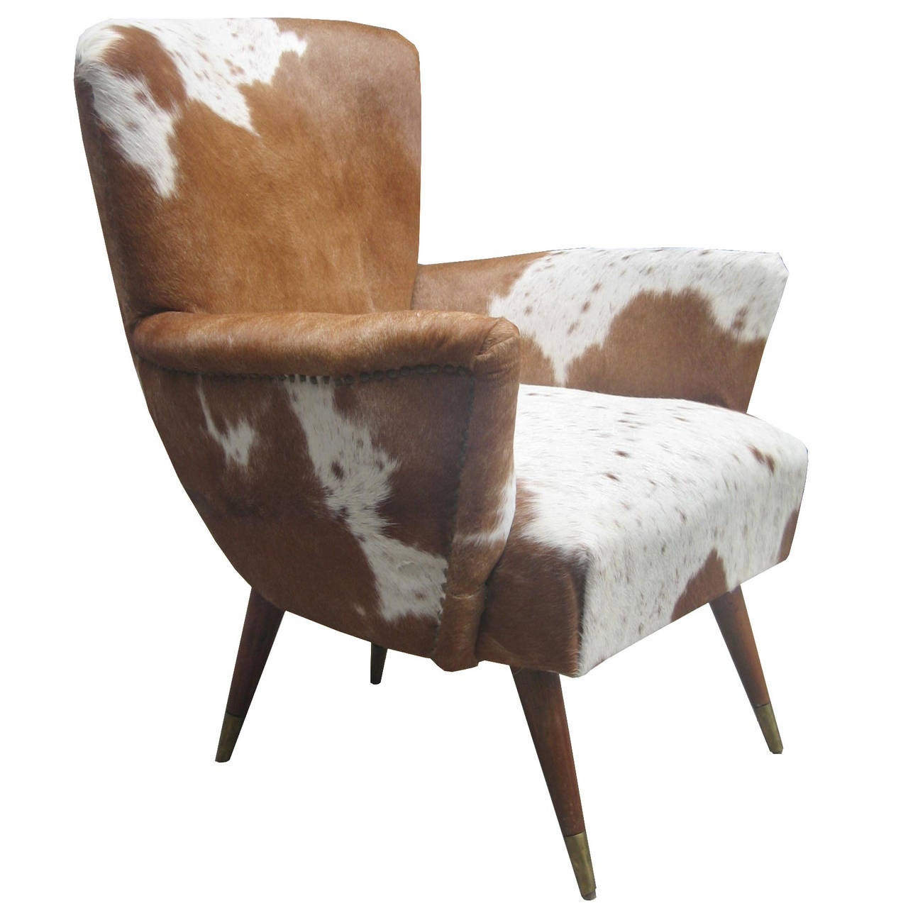 pair of modernist italian cowhide chairs at 1stdibs