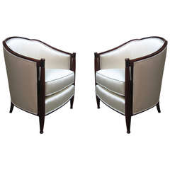 Fine Pair Of Art Deco Bergeres