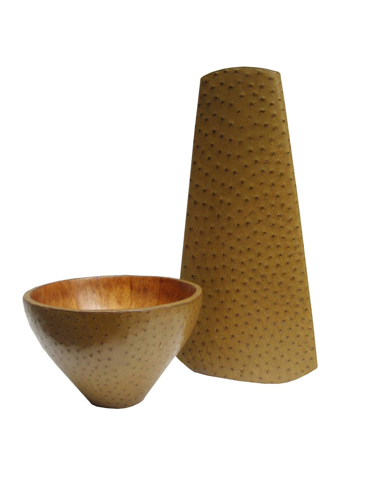 A R&Y Augousti designed vase and bowl set.