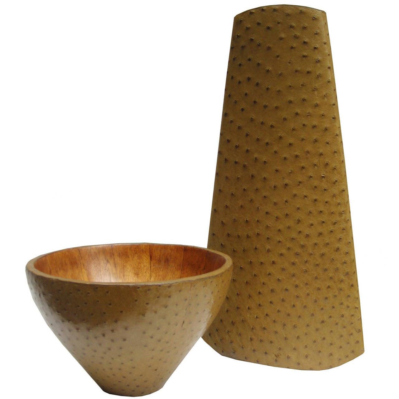 R&Y Augousti Vase and Bowl Set For Sale