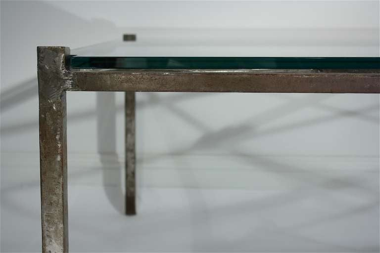 French Iron Base Coffee Table With Glass Top For Sale At 1stdibs