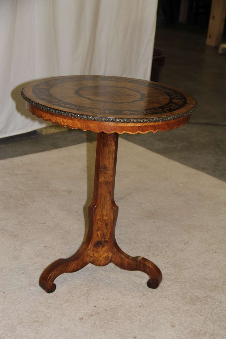 Marquetry side table for sale at stdibs