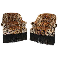 Pair of Leopard Napoleon Armchairs