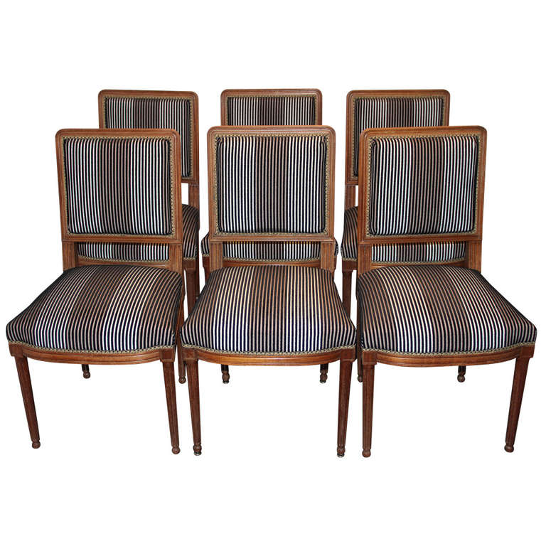 Set of Six French Louis XVI Dining Chairs For Sale at 1stdibs : 1135362l from 1stdibs.com size 768 x 768 jpeg 82kB
