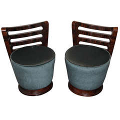 Pair of Macassar Ebony Chairs