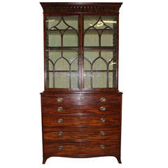 18th Century Mahogany Linen Press