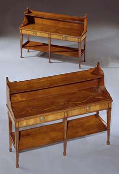 A Pair Of George III Harewood Side Tables Attributed To Mayhew And Ince (4487911)
