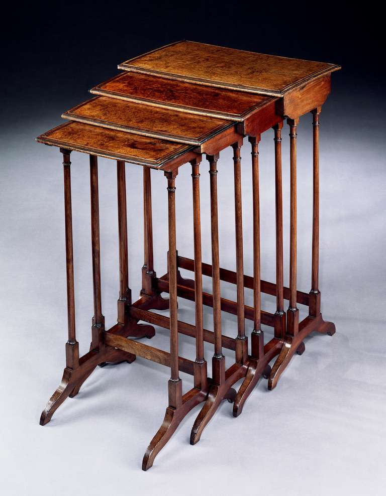A Regency Nest of Amboyna Tables For Sale at 1stdibs