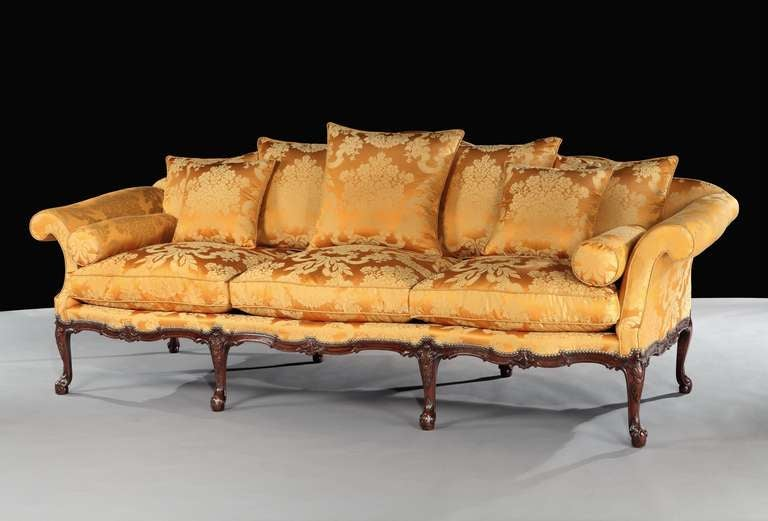 A George Ii Three Seater Settee Attributed To Wright And