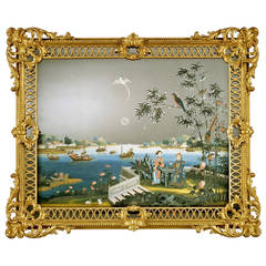 A George III Chinese Export Mirror Painting (4420431)