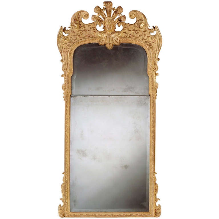 A George I Giltwood Pier Glass 4403711 At 1stdibs